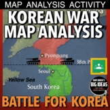 Korean War Map Exercise (Cold War) + Distance Learning Version