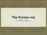 Korean War Overview Powerpoint in PDF