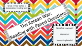 Korean War Reading and Question Sheet