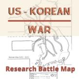 Korean War Research Battle Map
