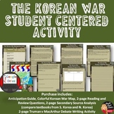 Korean War Student-Centered Activity (Print and  Google Docs) (grade 8-12)