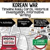 Korean War Timeline, Investigation, & Writing (Paper and Google) World History