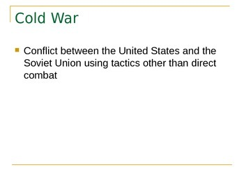Korean War as a Football game PPT