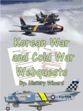 Korean War and Cold War Webquests with Teacher Answer Sheets