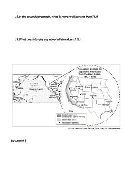 Korematsu v. United States Inquiry DBQ