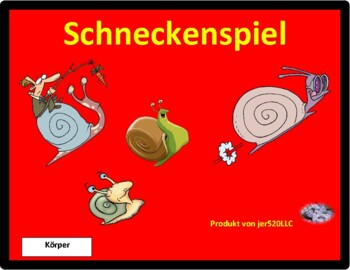 Körper (Body in German) Schnecke snail game