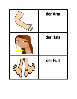 Körper (Body in German) Concentration games