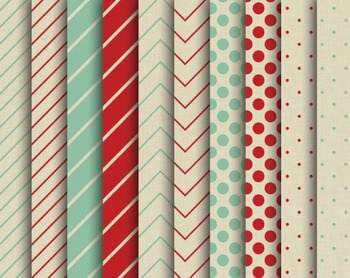 Kraft Christmas Papers, Digital Papers, Christmas Paper Set #143