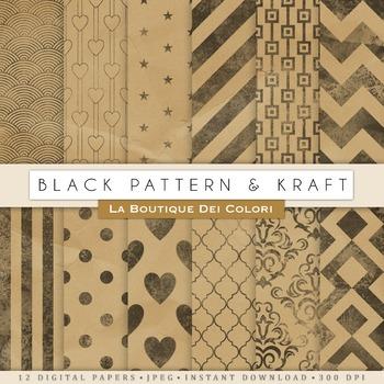 Kraft Digital Paper, scrapbook backgrounds.