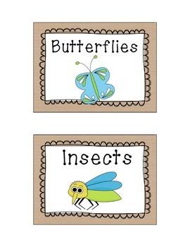 Kraft Paper Library Bin Labels