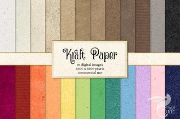 Kraft Paper Textures, printable kraft and cardboard digital paper backgrounds