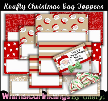 Krafty Christmas Bag Topper Starters~2 Sizes