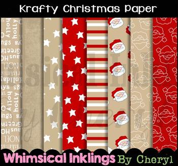 Krafty Christmas Digital Paper