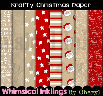 Krafty Christmas Digital Paper