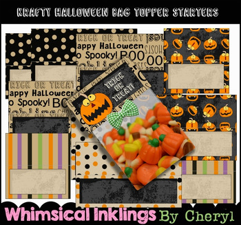 Krafty Halloween Bag Topper Starters