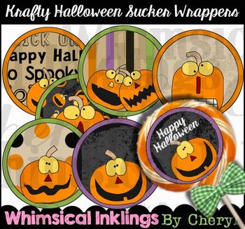 Krafty Halloween Sucker Labels