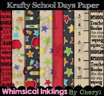 Krafty School Days Digital Paper
