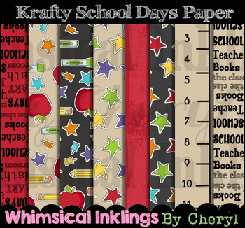 Krafty School Days Digital Paper
