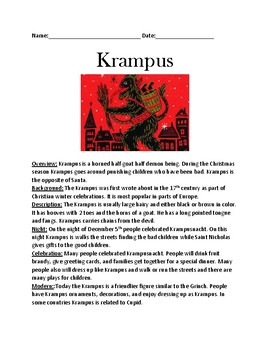 Krampus - review of Saint Nicholas grinch - history facts information questions