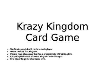 Krazy Kingdom Card Game