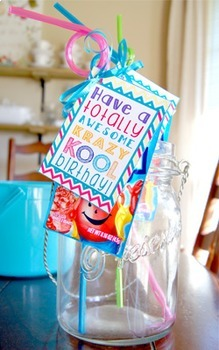 Krazy Kool Chevron Birthday Gift Tags