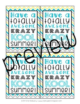 Summer Tags