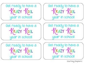 Krazy Kool School Year Tags {a Back to School gift}
