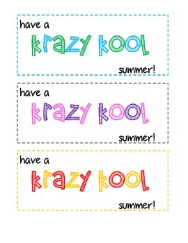 photo about Have a Kool Summer Printable identify Consist of A Krazy Kool Summertime Worksheets Instruction Products TpT