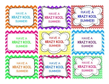 Krazy Kool Summer Labels