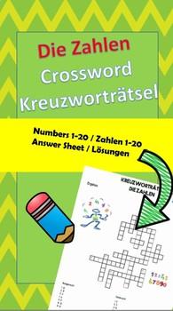 Kreuzworträtsel - die Zahlen