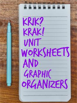 Krik Krak by Edwidge Danticat Unit Worksheets and Graphic Organizers