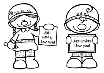 Krissy and Kris the Xmas Kindness Kids Freebie