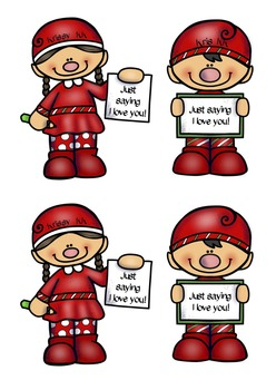 Krissy and Kris the Xmas Kindness Kids Freebie