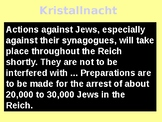 Kristallnacht - An illustrated Guide and Quiz