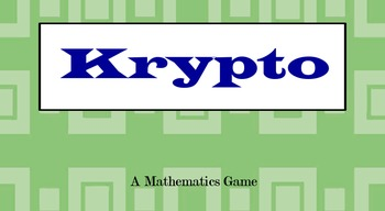 Krypto Higher Order Thinking math game Flipchart