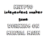 Krypto- Independent math game/center working on mental math