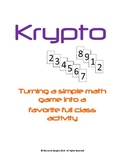 Krypto – a full class math game for review…and fun!