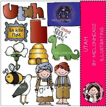 Utah clip art - COMBO PACK- by Melonheadz