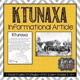 Ktunaxa: Indigenous (First Nations, Aboriginal) Cultures Informational Article