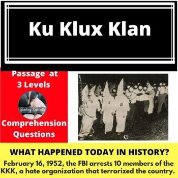 Ku Klux Klan Differentiated Reading Passage Feb 16