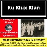 Ku Klux Klan Differentiated Reading Comprhension Passage Feb 16