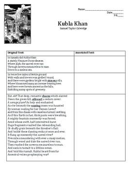 Kubla Khan Annotations