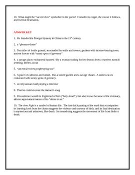 Samuel taylor coleridge poetry worksheets