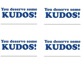 Kudos Cards Template by Success In The Classroom | TpT