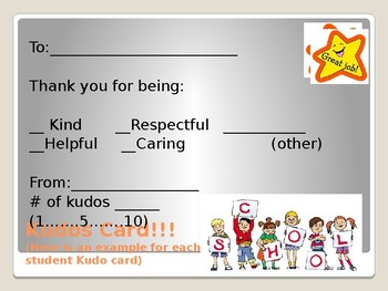 Kudos for Kids - A positive reward system for your classroom