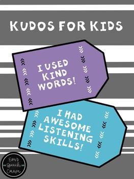 Kudos for Kids Brag Tags