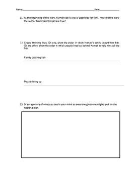 Reading Street- Kumak's Fish Comprehension Worksheet