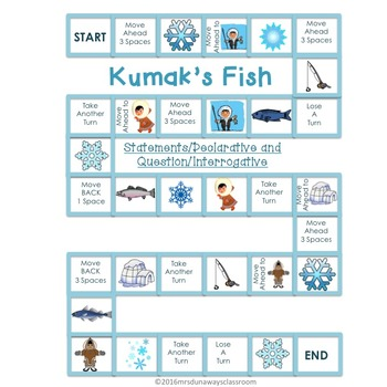 Kumak's Fish:  Statement / Declarative and Questions / Interrogative