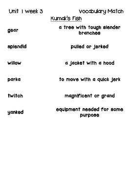 Kumak's Fish Vocabulary Activities