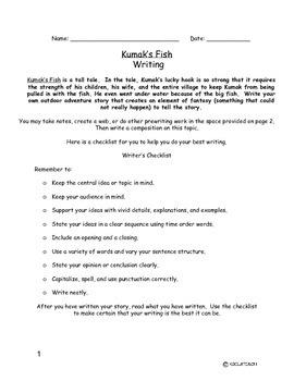 Kumak's Fish Writing